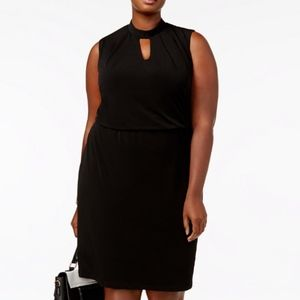 Nine West Plus Size Keyhole Sheath Dress
